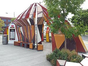 Streetcar Stop for Portland - The sculpture in August 2015