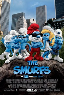 <i>The Smurfs</i> (film) 2011 comedy movie directed by Raja Gosnell