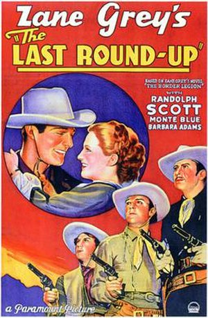 The Last Round-Up (1934 film) - Theatrical release poster