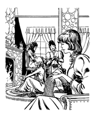 Little Women - The March Sisters. Illustration art by Pablo Marcos.