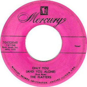 Only You (And You Alone) - Image: The Platters Only You single