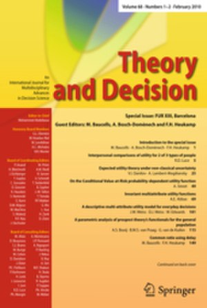 Theory and Decision - Image: Theory and Decision