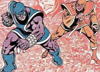 Thunder and Lightning (comics) - Thunder (left) and Lightning (right).