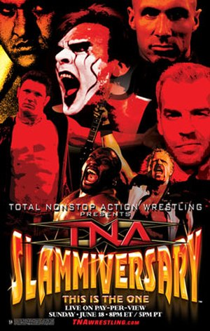 Slammiversary (2006) - Promotional poster featuring various TNA wrestlers