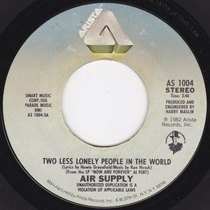 Two Less Lonely People in the World - Image: Two Less Lonely People in the World Air Supply