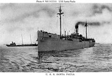 USS Santa Paula as a WWI US Navy transport.