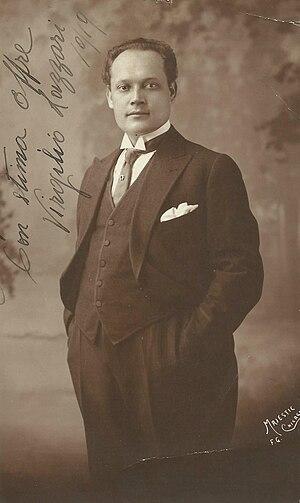 Virgilio Lazzari - Signed photograph of Virgilio Lazzari, 1919