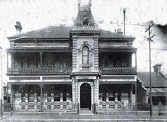 Waterloo Town Hall - Image: Waterloo Town Hall c. 1900