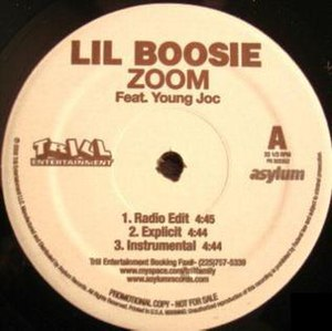 Zoom (Lil Boosie song) - Image: Zoom single