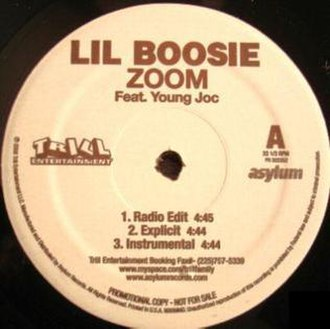Lil Boosie featuring Yung Joc - Zoom (studio acapella)