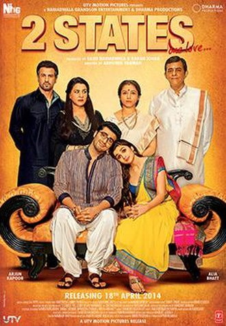 2 States (2014 film) - Theatrical release poster