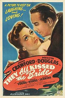 <i>They All Kissed the Bride</i> 1942 film by Alexander Hall