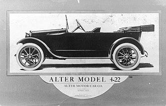 Alter (automobile) - Alter Model 4-22