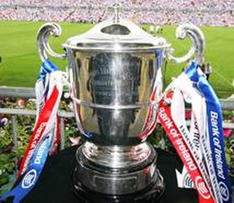 Ulster Senior Football Championship - The Anglo-Celt Cup, which is awarded to the Ulster champions