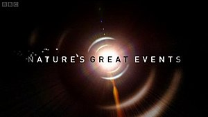 Nature's Great Events - Series title card from UK broadcast