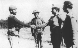 Battle of Hilli - Major Niazi of 31  Punjab regiment surrendering to