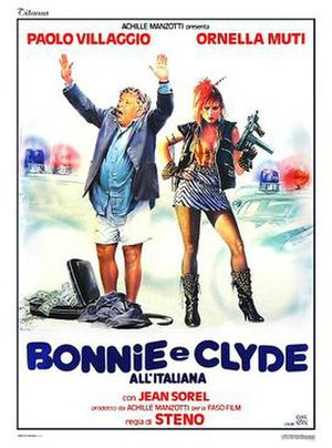 Bonnie and Clyde Italian Style - Italian theatrical release poster