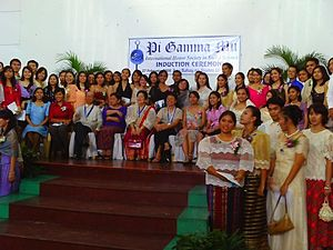Pi Gamma Mu - Newly Initiated Members of Pi Gamma Mu at UP Diliman