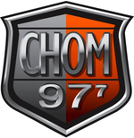 The current CHOM 97.7 logo used since 2010.
