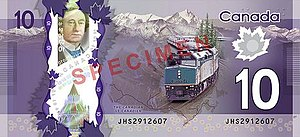 Frontier Series - The obverse and reverse of the $10 banknote.