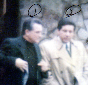 Lucchese crime family - FBI surveillance photo of Casso (right) with Lucchese family boss, Vittorio Amuso.