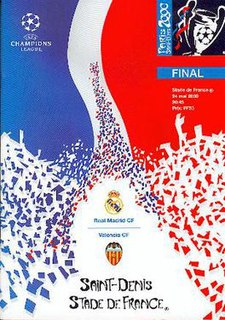 2000 UEFA Champions League Final association football match