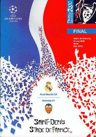 2000 UEFA Champions League Final - Match programme cover