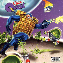 Cover art from the game's original CD sleeve as found in boxes of Chex cereal in 1996.