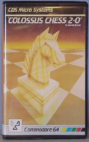 Colossus Chess - C64 Box art