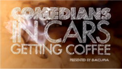 White block lettering of the show title as if written in chalk, over the background of a rich brown coffee foam