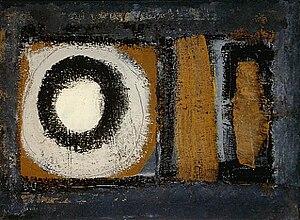 """Italian modern and contemporary art - """"Composizione"""", 1959, Enrico Accatino"""