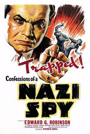 Confessions of a Nazi Spy - 1939 Theatrical Poster