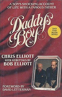 <i>Daddys Boy</i> book by Chris Elliott
