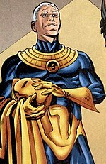 Panel from JSA featuring Hector Hall as Doctor Fate. Art by Stephen Sadowski.