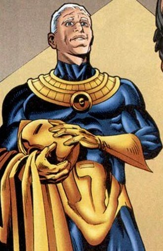 Hector Hall - Panel from JSA featuring Hector Hall as Doctor Fate. Art by Stephen Sadowski.