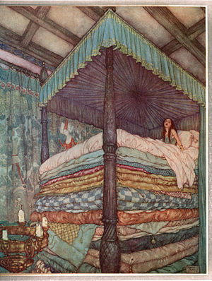 The Princess and the Pea - Image: Edmund Dulac Princess and pea