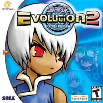 Evolution 2: Far Off Promise - North American Dreamcast cover art