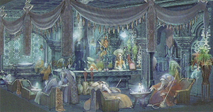 Characters of Final Fantasy XII - Concept artwork of the Occuria, during its initial designs, resembled a recurring Final Fantasy monster called Mindflayers