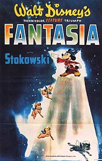 <i>Fantasia</i> (1940 film) 1940 American animated film produced by Walt Disney and released by Walt Disney Productions