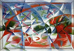 Abstract Speed + Sound by Giacomo Balla.