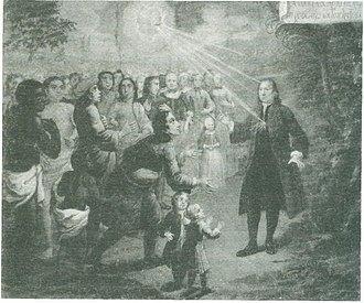 Nicolaus Zinzendorf - Zinzendorf preaching to people from many nations