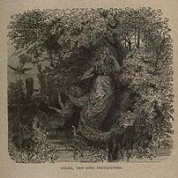 19th century plate of Frau Holda as 'the kind ...
