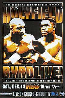 Chris Byrd vs. Evander Holyfield Boxing competition