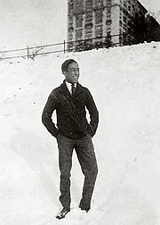 Langston Hughes in Cleveland,Ohio high school circa 1919-1920, photograph courtesy of Yale University Collection of American Literature, Beinecke Rare Book and Manuscript Library