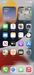 Pre-installed iOS apps Apps pre-installed on the Apple iOS operating system