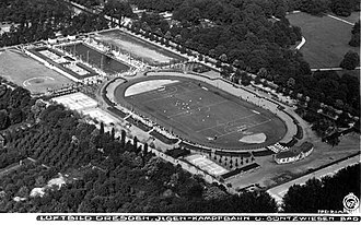 Stadion Dresden - The postal card of Ilgenkampfbahn, 1923