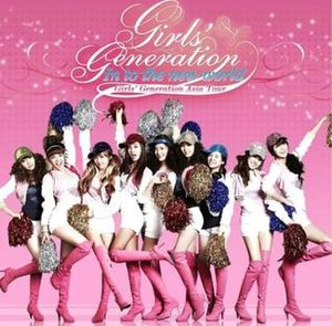 "Girls' Generation Asia Tour Into the New World - Promotion poster for Girls' Generation Asia Tour ""Into the New World"""