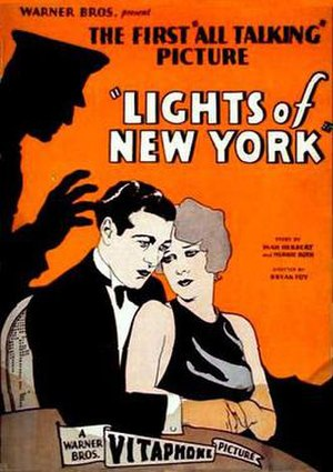 Lights of New York (1928 film) - theatrical release poster