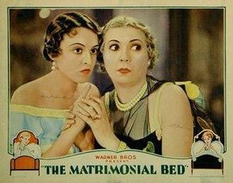 The Matrimonial Bed - lobby card showing Florence Eldridge and Lilyan Tashman