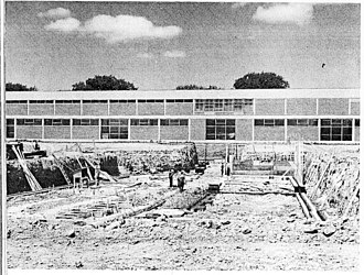 Merivale High School - Construction of the D Wing in 1965